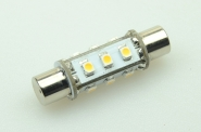 S8x42 LED-Soffitte 75 Lm. 12V AC/DC warmweiss 0,7W DC-kompatibel