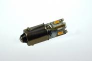 BA9S LED-Bajonettsockellampe 65 Lm. 12V DC warmweiss 0,6W kleine Bauform DC-kompatibel