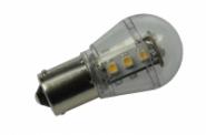 BA15S LED-Miniglobe 140 Lm. 12V AC/DC warmweiss 1,6W dimmbar DC-kompatibel