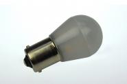 BA15S LED-Miniglobe 110 Lm. 12V AC/DC warmweiss 1,6W matt DC-kompatibel
