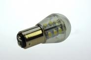 BAY15D LED-Miniglobe 140 Lm. 12V AC/DC warmweiss 1,6W dimmbar DC-kompatibel