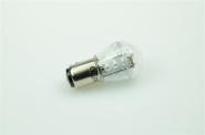 BAY15D LED-Miniglobe 27 Lm. 12V AC/DC Rot 0,7W dimmbar DC-kompatibel