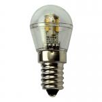 E14 LED-Miniglobe 60 Lm. 12V AC/DC warmweiss 0,7W dimmbar DC-kompatibel