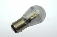 BAY15D LED-Miniglobe 60 Lm. 12V AC/DC warmweiss 0,7W dimmbar DC-kompatibel