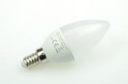 E14 LED-Kerze 370 Lm. 230V AC/DC warmweiss 3,7W 24 Stundenbetrieb DC-kompatibel
