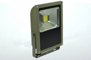 LED-Flutlichtstrahler 4500 Lumen 230V AC kaltweiss 50W flache Bauweise, Blendschutz