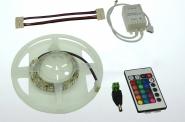 LED-Lichtband 290 Lumen 12V DC RGB 14,4W dimmbar DC-kompatibel