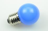 E27 LED-Globe LB45 15 Lm. 230V AC blau 1W