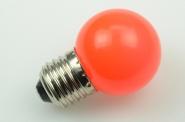 E27 LED-Globe LB45 45 Lm. 230V AC rot 1W