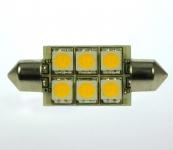 S8x37 LED-Soffitte 107 Lm. 12V AC/DC kaltweiss 1W dimmbar DC-kompatibel