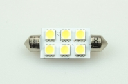 S8x42 LED-Soffitte 110 Lm. 12V AC/DC kaltweiss 1W dimmbar DC-kompatibel