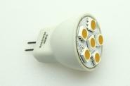 GU4 LED-Bajonettsockellampe 102 Lm. 12V AC/DC warmweiss 1W dimmbar DC-kompatibel