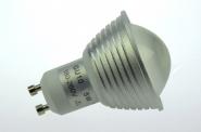 GU10 LED-Spot PAR16 300 Lm. 230V AC/DC kaltweiss 3,8W dimmbar DC-kompatibel