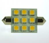 S8x42 LED-Soffitte 170 Lm. 12V AC/DC warmweiss 2W dimmbar DC-kompatibel