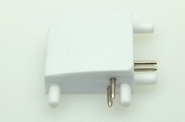 T-Verbinder, 90°, 4 polig, weißes PCB
