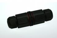 Wasserdichter Steckverbinder IP67 für Kabel, schwarz