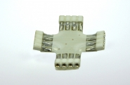 Kreuzverbinder, 90°, 4 polig, schwarzes PCB