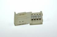 Kreuzverbinder, 90°, 4 polig, weißes PCB