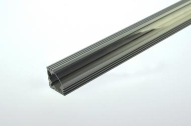 Aluprofil 1000mm x 18mm x 18mm, für 6-10mm Lichtbänder, runde Form