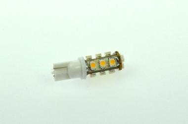 T10 LED-Stiftsockellampe 70 Lm. 12V AC/DC kaltweiss 0,7W DC-kompatibel
