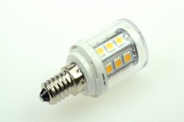 E14 LED-Tubular 300 Lm. 24V AC/DC warmweiss 2,6W dimmbar DC-kompatibel