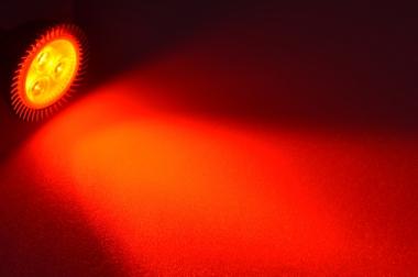 GU5.3 LED-Spot PAR16 120 Lm. 12V DC Rot 2,3 W DC-kompatibel