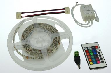 LED-Lichtband 290 Lumen 12V DC RGB 28,8W dimmbar DC-kompatibel