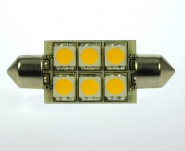 S8x42 LED-Soffitte 100 Lm. 12V AC/DC warmweiss 1W dimmbar DC-kompatibel