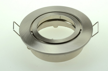 Einbauring, MR16/PAR16, schwenkbar, chrom matt gebürstet inkl. 12V Fassung
