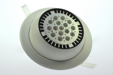 Einbauring, PAR38, schwenkbar, weiß inkl. E27 Fassung, IP20