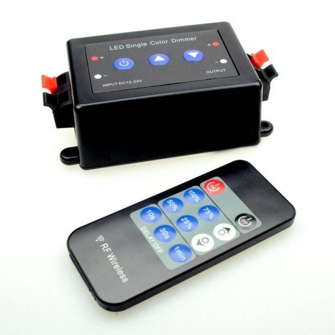 LED-Dimmer 12-24Volt DC mit Druckknöpfen am Dimmer