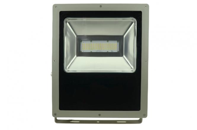 LED-Flutlichtstrahler 7900 Lumen 230V AC/DC warmweiss 100W flache Bauweise DC-kompatibel