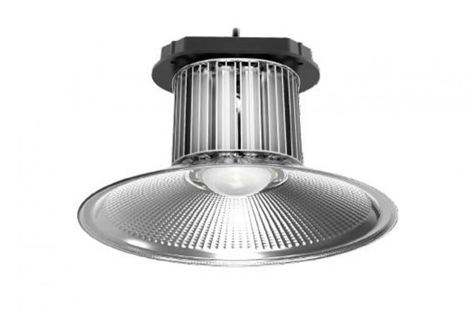LED-Hallentiefstrahler 9300 Lumen 230V AC kaltweiss 100W DC-kompatibel