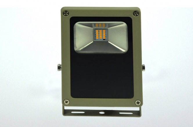 LED-Flutlichtstrahler 930 Lumen 230V AC/DC warmweiss 15W flache Bauweise DC-kompatibel