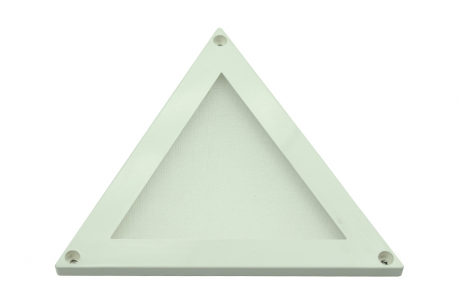 LED-Panel 100 Lumen 12V DC warmweiss 2W Dreieck DC-kompatibel