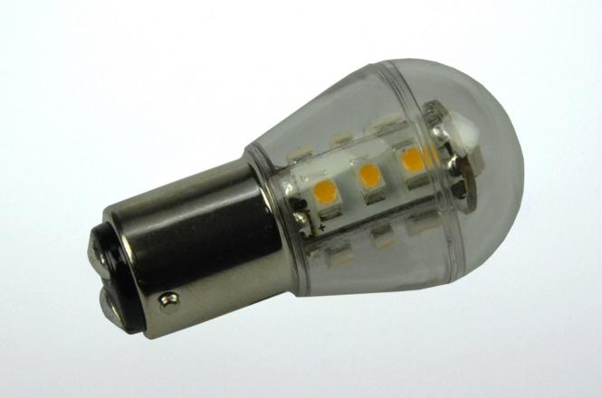BA15D LED-Miniglobe 140 Lm. 12V AC/DC warmweiss 1,6W dimmbar DC-kompatibel