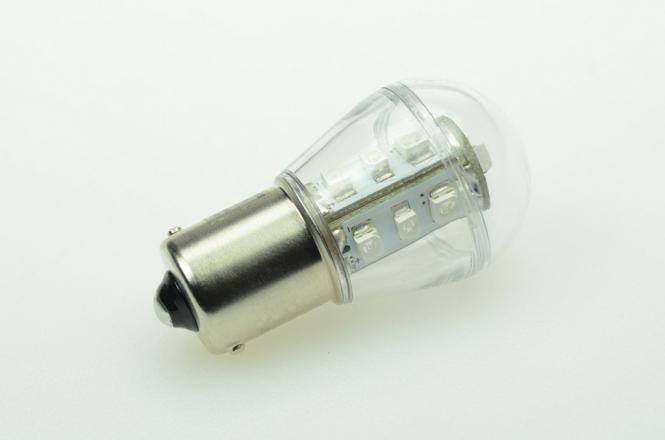 BA15S LED-Miniglobe 18 Lm. 12V AC/DC Blau 0,9W Signallampe DC-kompatibel