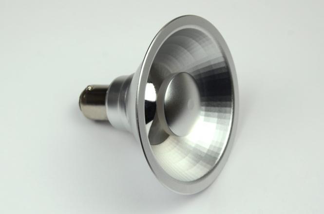 BA15D LED-Bajonettsockellampe AR70 550 Lm. 12V AC/DC warmweiss 8W dimmbar DC-kompatibel