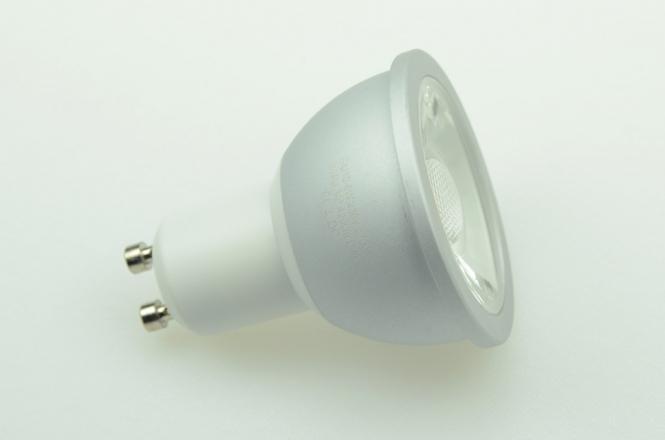 GU10 LED-Spot PAR16 420 Lm. 230V AC/DC warmweiss 6W dimmbar, CRI>90 DC-kompatibel