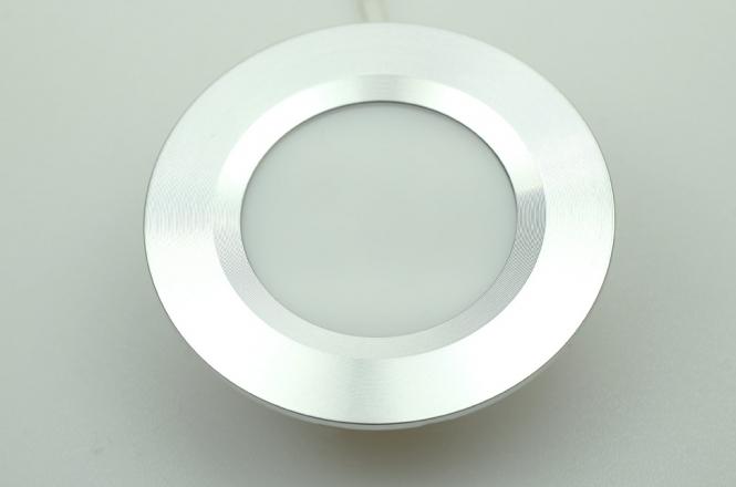 LED-Einbauleuchte 125 Lumen 12V DC warmweiss 3W DC-kompatibel
