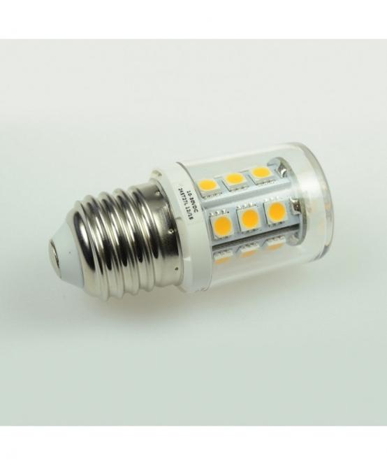 E27 LED-Tubular 300 Lm. 24V AC/DC warmweiss 2,6W dimmbar DC-kompatibel