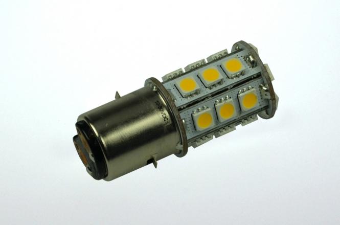 BA20D LED-Bajonettsockellampe 270 Lm. 12V AC/DC warmweiss 2,5W dimmbar DC-kompatibel