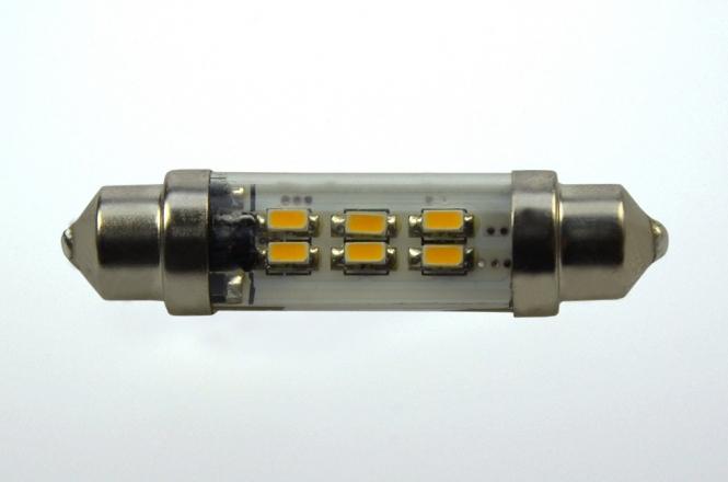 S8x37 LED-Soffitte 45 Lm. 12V AC/DC warmweiss 0,8W dimmbar DC-kompatibel