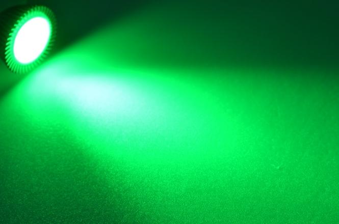 GU5.3 LED-Spot PAR16 210 Lm. 12V DC Grün 3,4 W DC-kompatibel