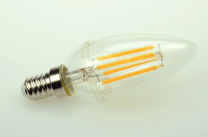 E14 LED-Kerze 470 Lm. 230V AC warmweiss 4 W
