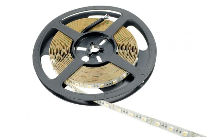 LED-Lichtband 360 Lumen WW Lumen 12V DC RGB/warmweiss 90W RGBW - 4er Chip DC-kompatibel