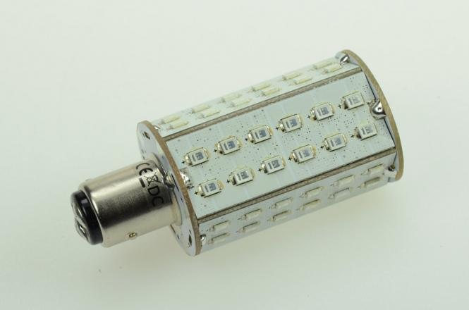 BAY15D LED-Bajonettsockellampe 370 Lm. 12V AC/DC Grün 4,8W DC-kompatibel
