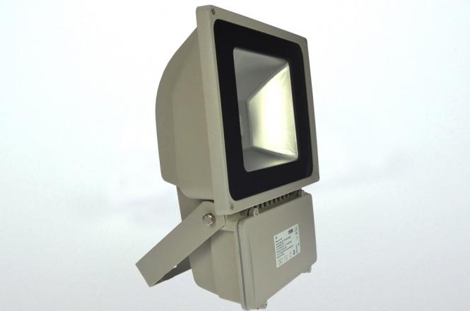 LED-Flutlichtstrahler 4900 Lumen 230V AC/DC warmweiss 78W DC-kompatibel