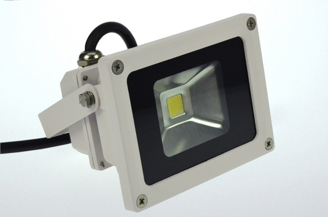 LED-Flutlichtstrahler 600 Lumen 230V AC/DC warmweiss 12W DC-kompatibel
