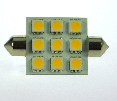 S8x37 LED-Soffitte 170 Lm. 12V AC/DC warmweiss 2W dimmbar DC-kompatibel